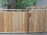 Asian style cedar gate and fence