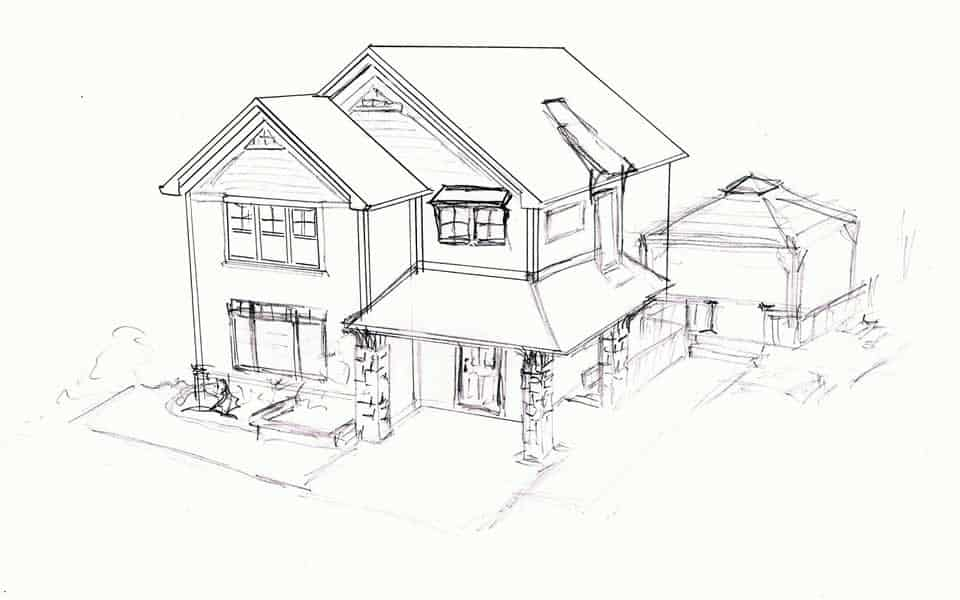 Concept Sketch of Home Design