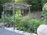 Custom Arbour in a Natural Garden Design