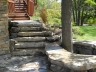 Natural Limestone steps and Seat wall