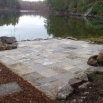 Square-cut Limestone Patio