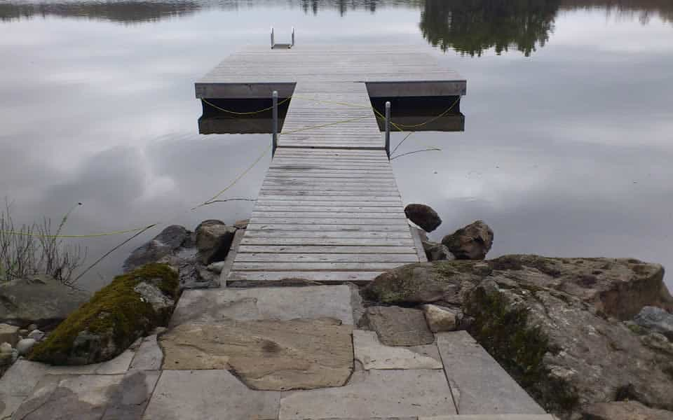 Stone Step to Dock