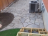 Flagstone & Interlock Patio design by Rhonda Derue installation by Yards Unlimited