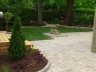 Interlock walkway, patio and garden beds designed by Rhonda Derue installed by Yards Unlimited Landscaping Inc.